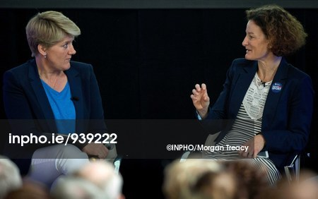Clare Balding and Sonia O'Sullivan at the Liberty Insurance women in sport event at Croke Park. Picture: Inpho